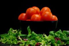 pomidorów, sałaty Fotografia Royalty Free