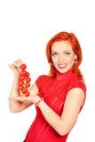 pomidor czereśniowa kobieta Zdjęcie Royalty Free
