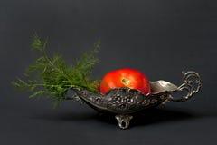Pomidor i koper w pucharze Obraz Stock