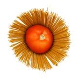 Pomidor i makaron Zdjęcia Stock
