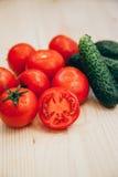 Pomidor i ogórek Zdjęcie Royalty Free