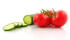 Pomidor i ogórek Zdjęcia Stock
