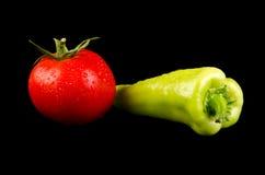 Pomidor i pieprz Obraz Royalty Free