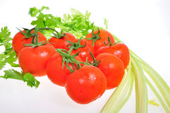 Pomidor i seler Zdjęcia Royalty Free
