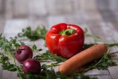 Pomidor, marchewka i cebule, obrazy royalty free