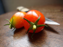 pomidor nóż Fotografia Stock