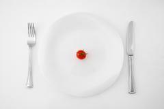 Pomidor na Talerzu Zdjęcie Royalty Free