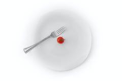 Pomidor na Talerzu Obrazy Stock