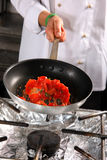 pomidor przygotowania szefa kuchni Fotografia Stock