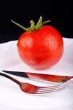 Pomidor w talerzu Zdjęcia Stock