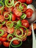 Pomidorowa Cebulkowa sałatka Obrazy Royalty Free