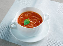 Pomidorowa di Zupa Immagini Stock Libere da Diritti