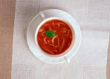 Pomidorowa di Zupa Immagini Stock