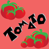 Pomidorowa tapeta ilustracja wektor