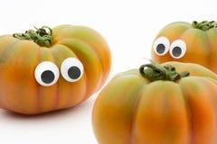 Pomidorowa twarz Zdjęcie Royalty Free