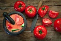 Pomidorowa zimna polewka Obraz Stock