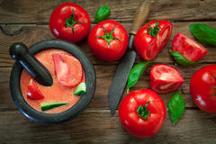 Pomidorowa zimna polewka Fotografia Stock