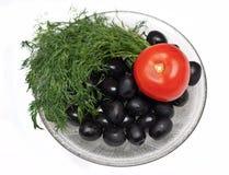 pomidorowe koperkowe oliwki Obraz Stock
