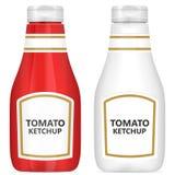 Pomidorowego ketchupu set Zdjęcie Royalty Free