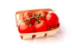 Pomidorowej Koszykowej witaminy Sałatkowy biel Obraz Royalty Free