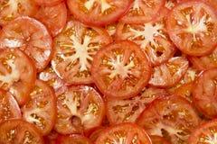 pomidorowi plasterki Zdjęcia Royalty Free