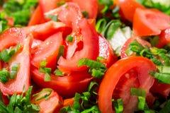 pomidorowi plasterki Fotografia Royalty Free