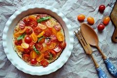Pomidorowy cheesecake Obraz Stock