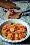 Pomidorowy cheesecake Zdjęcie Stock