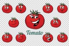 Pomidorowy emocja charakterów kolekci set ilustracji