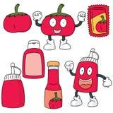 Pomidorowy i pomidorowy kumberland ilustracja wektor