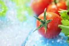 Pomidorowy Karmowy tło Zdjęcia Royalty Free