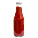 Pomidorowy ketchup w szklanej butelce Obrazy Stock