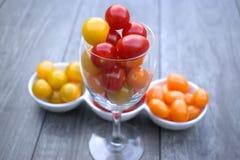 Pomidorowy koktajl w wina szkle Obrazy Stock