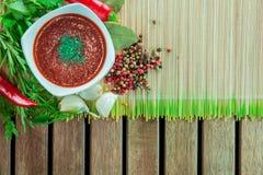 Pomidorowy kumberland z ziele i pikantność Obrazy Stock