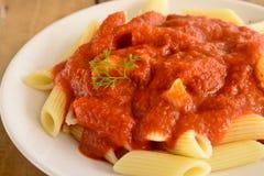 Pomidorowy makaron Zdjęcie Royalty Free