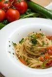 Pomidorowy makaron Obrazy Royalty Free
