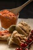 Pomidorowy masło z flatbread Obraz Stock