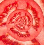 Pomidorowy nieskończoności spirali abstrakta tło. Obraz Stock