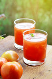 Pomidorowy owocowy sok Zdjęcia Royalty Free