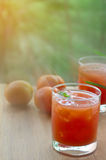 Pomidorowy owocowy sok Fotografia Royalty Free