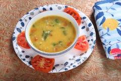 Pomidorowy pappu, Takkali Parappu, Andhra tamator Dhal zdjęcia stock