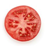 Pomidorowy plasterek na białym tle fotografia stock