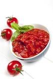 Pomidorowy Puree z basilem Fotografia Royalty Free