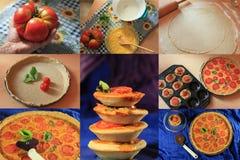 Pomidorowy quiche kolaż Obraz Stock