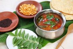 Pomidorowy rasam, południowa indyjska polewka Obrazy Royalty Free