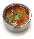 Pomidorowy rasam, południowa indyjska polewka Obrazy Stock