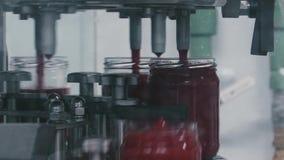 Pomidoru ketchupu produkci produkcja w szklanych słojach zbiory