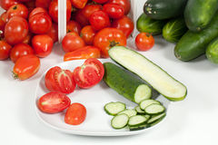 pomidoru szczegółowy matrycujący widok obrazy royalty free