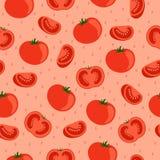 Pomidory bezszwowy wzoru Obrazy Stock
