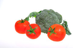 Pomidory i brokuły Fotografia Stock